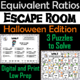 Equivalent Ratios Game: Escape Room Halloween Math Activity
