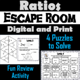 Equivalent Ratios Game: Escape Room Math Activity