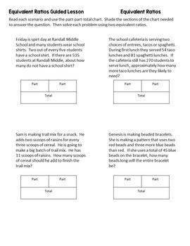 Proportional Relationships Lesson Materials