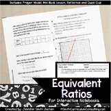 Equivalent Ratios Lesson for Interactive Notebooks | TEKS 6.5a