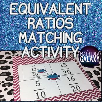 Equivalent Ratios Matching Activity FREEBIE
