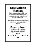 Equivalent Ratios Poster