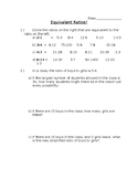 Equivalent Ratios Quiz