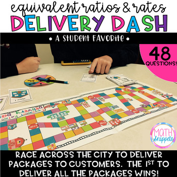 Equivalent Ratios & Rates Delivery Dash Board Game