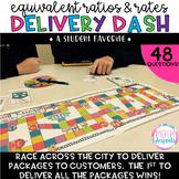 Equivalent Ratios & Rates Delivery Dash Board Game
