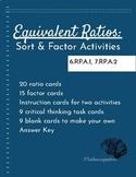 Equivalent Ratios Sort & Factor Card Activities (6.RP.A.1,