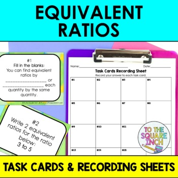 Equivalent Ratios Task Cards