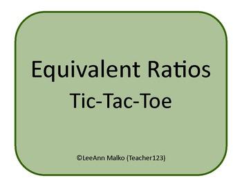 Equivalent Ratios Tic-Tac-Toe