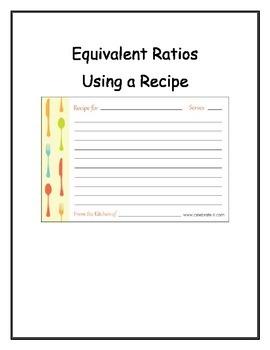 Equivalent Ratios Using a Recipe