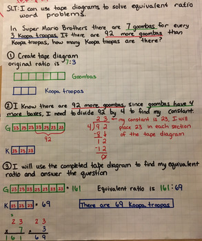 Equivalent Ratios Word Problems (All Together, More Than)