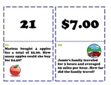 Equivalent Ratios and Rates Scavenger Hunt Game