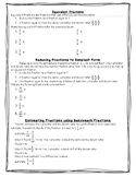 Equivalent, Simplifying, and Estimating Fraction Notes/Exi