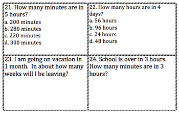 Equivalent Time Periods - Scoot - Task Cards VA SOL - 3rd Grade