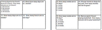 Equivalent Time Periods Task Cards VA SOL - 3rd Grade