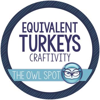 Equivalent Turkeys - Thanksgiving Fraction Craftivity