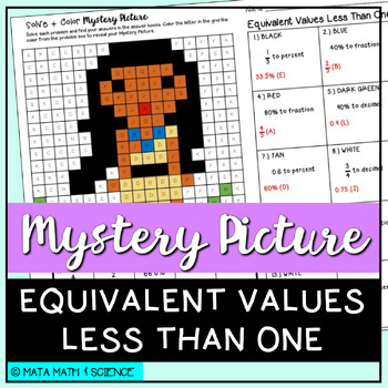 Equivalent Values Less Than One: Mystery Picture (Princess)