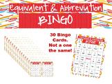 Equivalent and Abbreviation Bingo