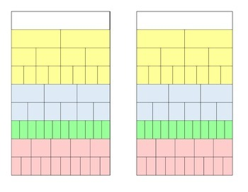 Equivalent and Comparing Fractions Chart