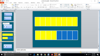 Equivalent and non-equivalent  fractions PowerPoint
