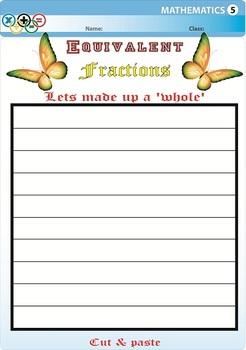 Equivalent fraction Cut & Paste