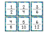 #AUSBTS18 Equivalent fraction snap/Equivalent fraction memory! {60 cards}