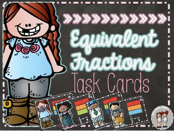 Equivalent fraction task cards!