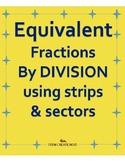 Equivalent fractions by using the process of division