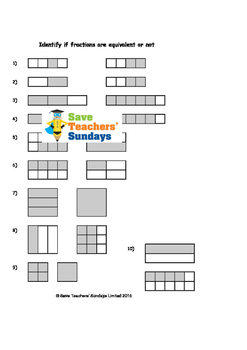 Equivalent Fractions Worksheets (4 levels of difficulty) | TpT