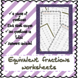 Equivalent fractions worksheets (160 Questions!)