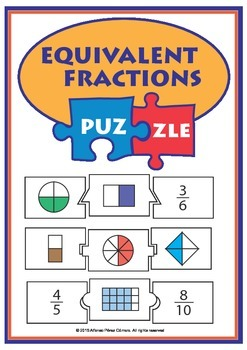 Equivalents Fractions Puzzle