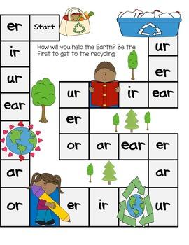Er, Ir, Ur, Ear, Ar, Or Game and Word Sort