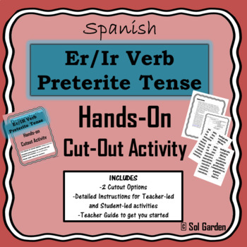 Er/Ir Verb Preterite Tense Hands-On Practice - Cutout Activities