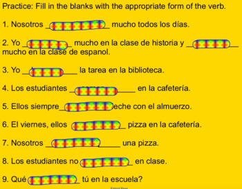 Er/ir verbs in Spanish intro with practice