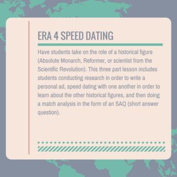 AP World Era 4 Speed Dating (Absolutism, Reformation, Scientific Revolution)