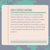AP World Era 4 Speed Dating (Absolutism, Reformation, Scie