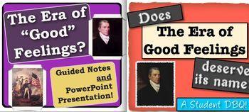 Era of Good Feelings Bundle!  2 activities, 1 great price!  Common Core focused!