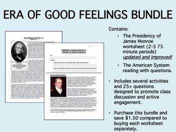 Era of Good Feelings Bundle - US History/APUSH