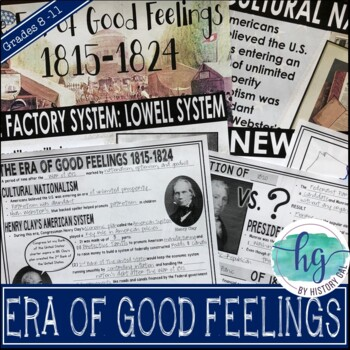 Era of Good Feelings PowerPoint & Guided Notes