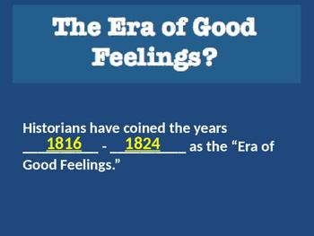 Era of Good Feelings Presentation