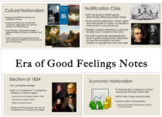 Era of Good Feelings and Jackson PowerPoint Notes