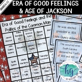 Era of Good Feelings and Politics of the Common Man Bingo