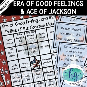 Era of Good Feelings and Politics of the Common Man Bingo