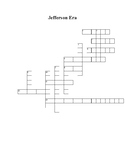 Era of Jefferson Crossword Puzzle