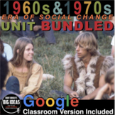 Era of Social Activism Unit 1960s - 1970s: PPTs, Worksheets, Review, Game & Test