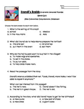 Erandi's Braids Comprehension Quiz