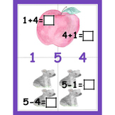 Math Fact Family Erasable Cards Add and Sub Fact Families