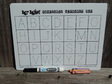 Erasable Handwriting Alphabet Mat / Mrmikesmusicmats