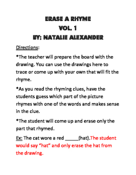 Erase A Rhyme Volume 1