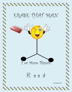 Erase that Man Vocabulary and Phonics Literacy Center