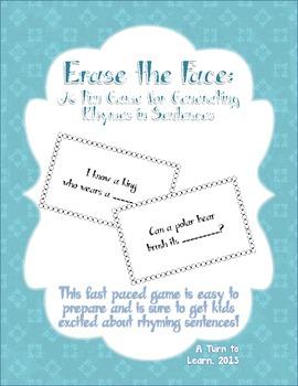 Erase the Face: A Fun Rhyming Sentences Game!